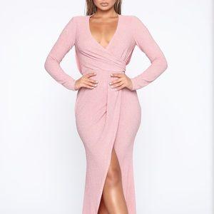 Fashion Nova floor length gown.